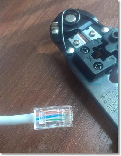 обжатый кабель rj-45